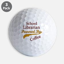 Powered by coffee Teacher librarian   Golf Ball