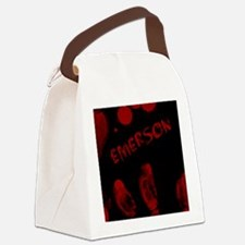 Emerson, Bloody Handprint, Horror Canvas Lunch Bag