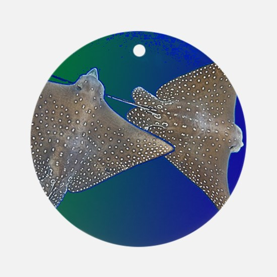 Wonky Whip Ray Round Ornament