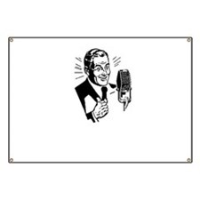 Retro Radio Host Banner