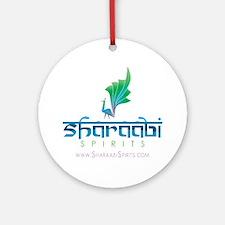 Sharaabi Spirits Logo with website Round Ornament