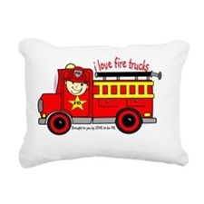 FIRE TRUCK - LOVE TO BE  Rectangular Canvas Pillow