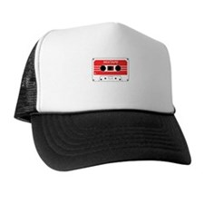 Red Cassette Tape Trucker Hat
