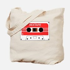 Red Cassette Tape Tote Bag