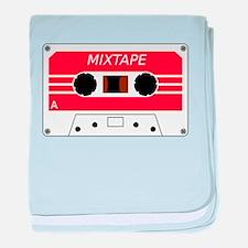 Red Cassette Tape baby blanket