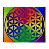 Flower of life Fleece Blankets