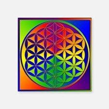 "Flower of Life Square Sticker 3"" x 3"""
