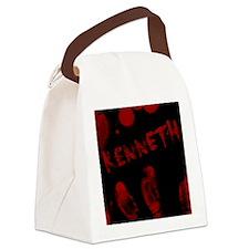 Kenneth, Bloody Handprint, Horror Canvas Lunch Bag