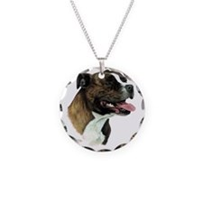 Staffordshire Bull Terrier Necklace Circle Charm