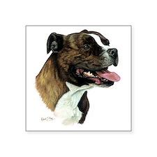 "Staffordshire Bull Terrier Square Sticker 3"" x 3"""