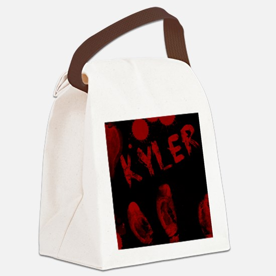 Kyler, Bloody Handprint, Horror Canvas Lunch Bag