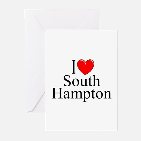 """I Love South Hampton"" Greeting Cards (Package of"