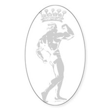 KING OF BODYBUILDING Oval Bumper Stickers