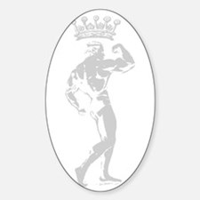 KING OF BODYBUILDING Oval Decal