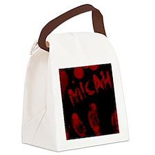 Micah, Bloody Handprint, Horror Canvas Lunch Bag