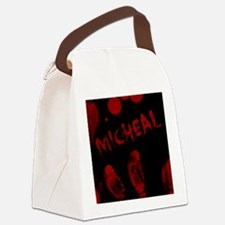 Micheal, Bloody Handprint, Horror Canvas Lunch Bag