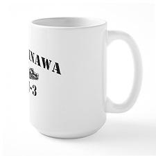 okinawa black letters Mug