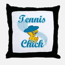 Tennis Chick #3 Throw Pillow