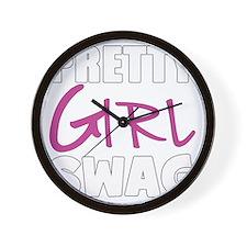 PRETTY GIRL SWAG Wall Clock