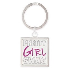 PRETTY GIRL SWAG Square Keychain