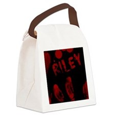Riley, Bloody Handprint, Horror Canvas Lunch Bag