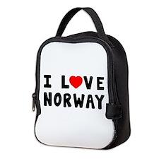 I Love Norway Neoprene Lunch Bag
