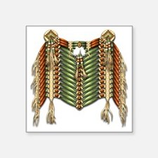 "Native American Breastplate Square Sticker 3"" x 3"""
