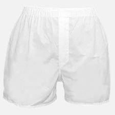 Binary Crop Circle White Boxer Shorts