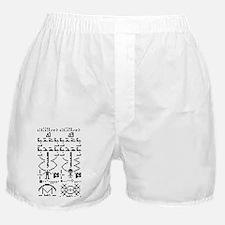 Binary Crop Circle Black Boxer Shorts