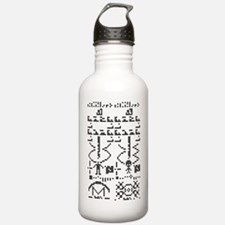 Binary Crop Circle Bla Water Bottle