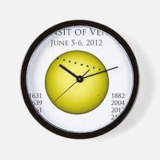 transit-of-venus-10-blackLetters copy Wall Clock