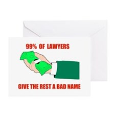 99% LAWYERS Greeting Cards (Pk of 10)