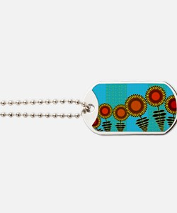 70S-SUNFLOWERS-TOILETRY-BAG Dog Tags