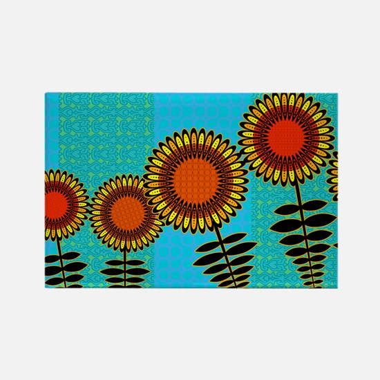 SUNFLOWERS-COIN-PURSE Rectangle Magnet