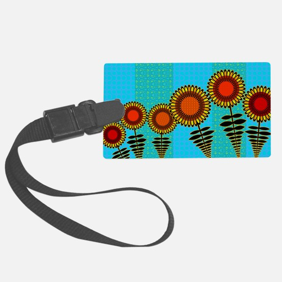 70S-SUNFLOWERS-TOILETRY-BAG Luggage Tag