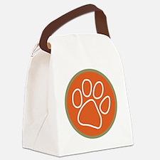 Paw print logo Canvas Lunch Bag