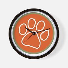 Paw print logo Wall Clock