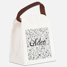 Aden, Matrix, Abstract Art Canvas Lunch Bag