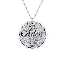 Aden, Matrix, Abstract Art Necklace