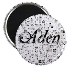 Aden, Matrix, Abstract Art Magnet
