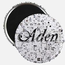 Aden, Matrix, Abstract Art Magnet