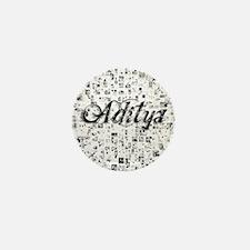 Aditya, Matrix, Abstract Art Mini Button