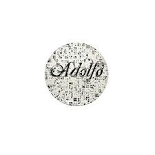Adolfo, Matrix, Abstract Art Mini Button