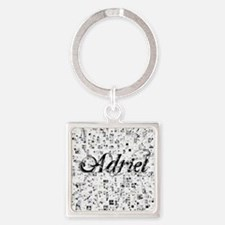 Adriel, Matrix, Abstract Art Square Keychain