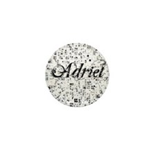 Adriel, Matrix, Abstract Art Mini Button