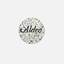 Alden, Matrix, Abstract Art Mini Button