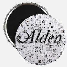 Alden, Matrix, Abstract Art Magnet