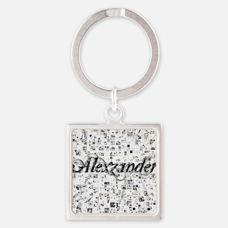Alexzander, Matrix, Abstract Art Square Keychain