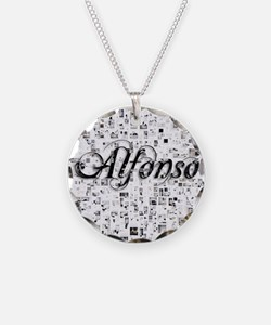 Alfonso, Matrix, Abstract Ar Necklace