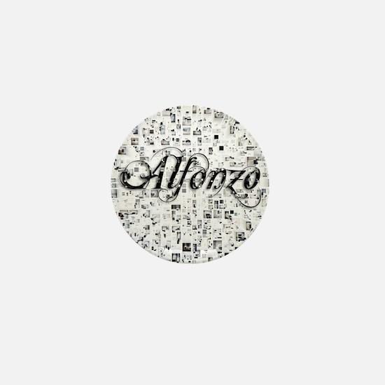 Alfonzo, Matrix, Abstract Art Mini Button
